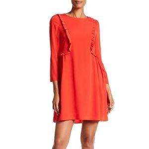 | NWT | CeCe Long Sleeve Ruffle Front Dress
